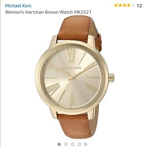 Michael Kors Hartman Brown Leather Watch MK2521